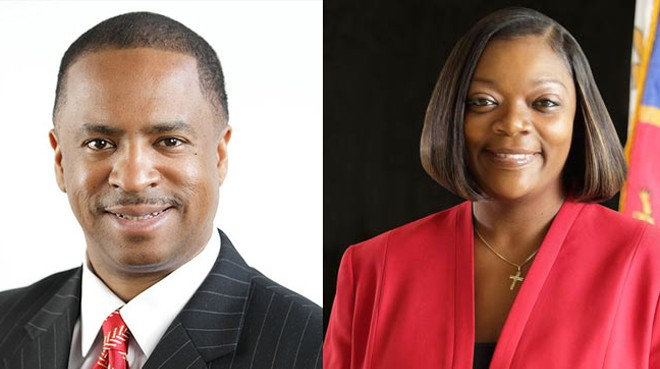 Councilman Scott Benson and Janeé Ayers. - CITY OF DETROIT