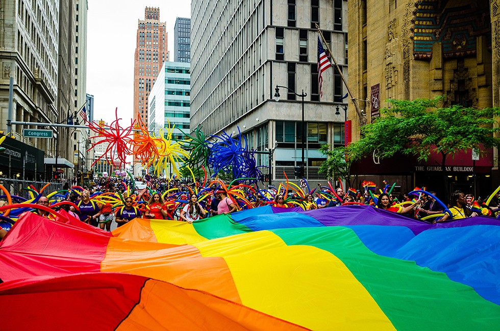 Though June is traditionally Pride Month, Motor City Pride sashayed its rainbow-powered Hart Plaza-centered festivities to September. - COURTESY PHOTO
