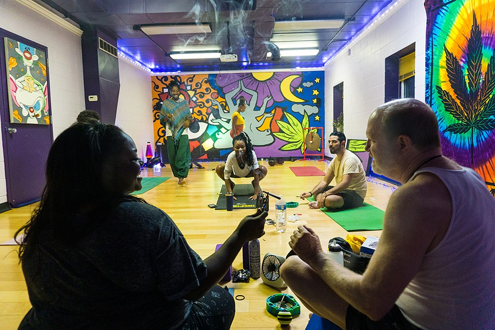 Elevated Yogi is a Black-owned yoga studio that hosts smoke sessions before every class. - SE7ENFIFTEEN