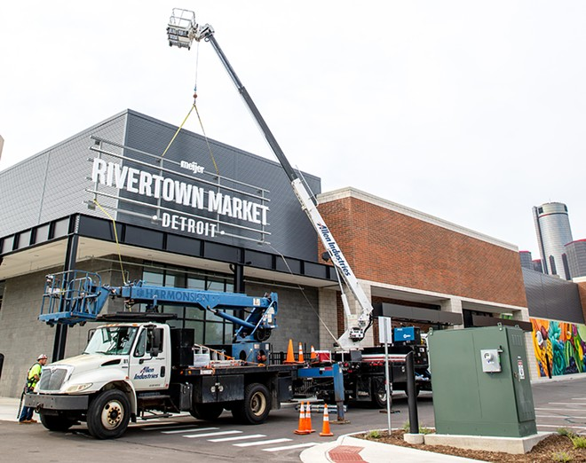 Workers are putting the finishing touches on Detroit's Meijer Rivertown Market. - COURTESY PHOTO