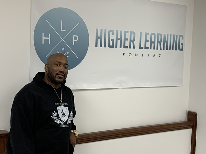 Sammy Rogers is the founder of Higher Learning Institutions, Michigan's first brick-and-mortar cannabis school. - LARRY GABRIEL