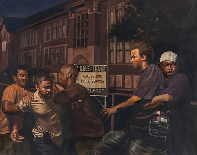 Art gets real: Detroit artist Mario Moore draws from life for inspiration for his realistic paintings. - MARIO MOORE