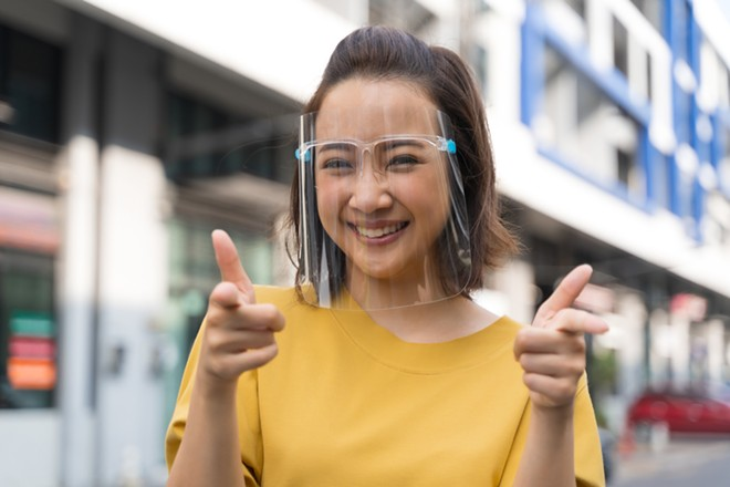You can wear this type of mask at Michigan First Credit Union branches. - SHUTTERSTOCK