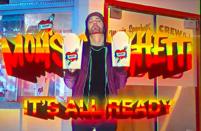 Eminem's new diner Mom's Spaghetti will serve up just that starting Sept. 29. - SCREENGRAB VIA MOM'S SPAGHETTI TV SPOT