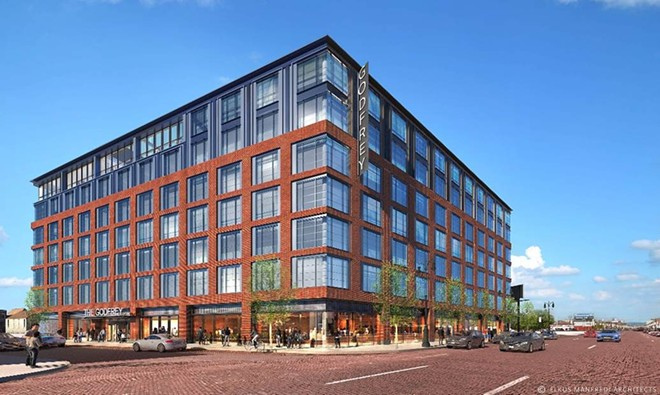 Groundbreaking is scheduled to begin this week on The Godfrey Hotel Detroit at 1401 Michigan Ave. in Corktown. - OXFORD CAPITAL GROUP AND HUNTER PASTEUR