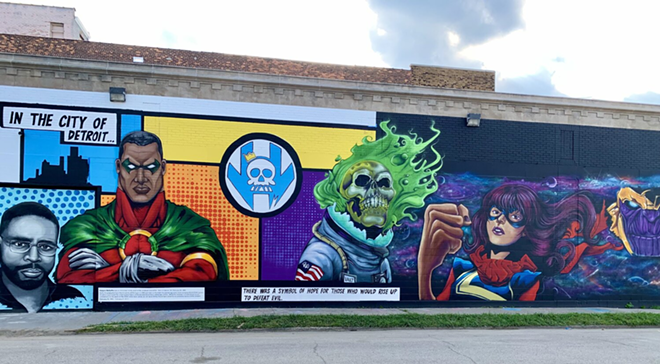 Vault of Midnight's new Detroit store features a mural by Sintex. - COURTESY PHOTO