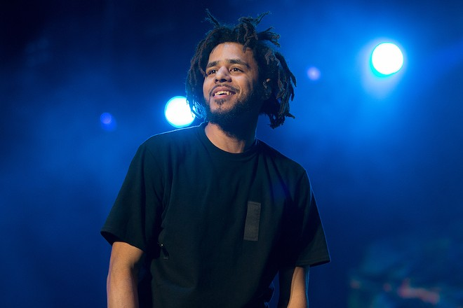 J.Cole is, uh, a bit behind. - PHOTO BY STERLING MUNKSGARD / SHUTTERSTOCK.COM