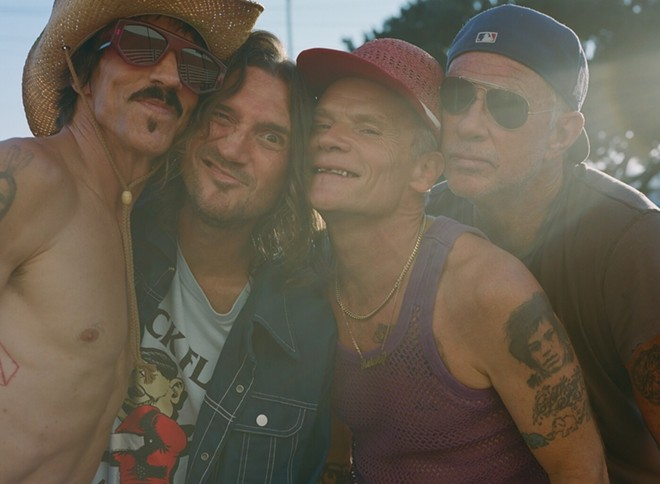 RHCP — with John Frusciante — are headed to Detroit with the Strokes and Thundercat in 2022. - PHOTO BY CLARA BELZARY