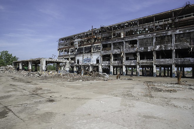 The Cadillac Stamping Plant on on Detroit's east side was demolished this summer. - CITY OF DETROIT