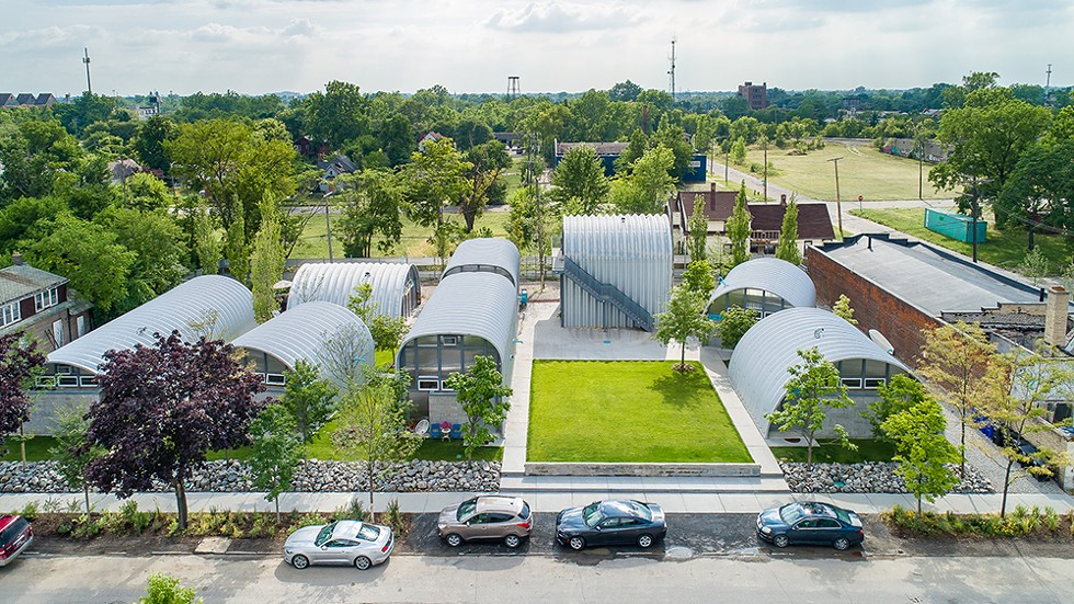 An aerial view of Detroit's TrueNorth development. - CHRIS MIELE