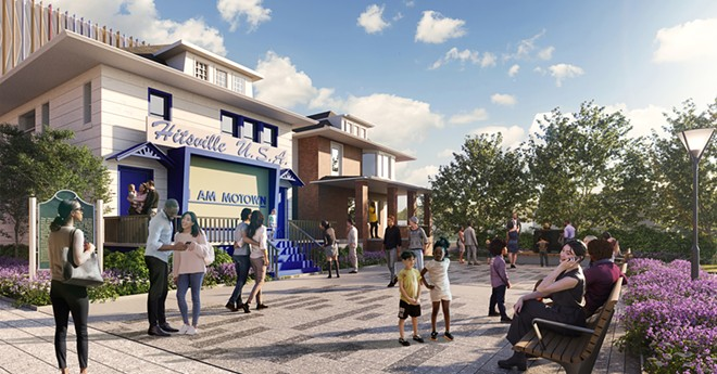 Detroit's Motown Museum unveiled renderings for its new plaza. - MOTOWN MUSEUM