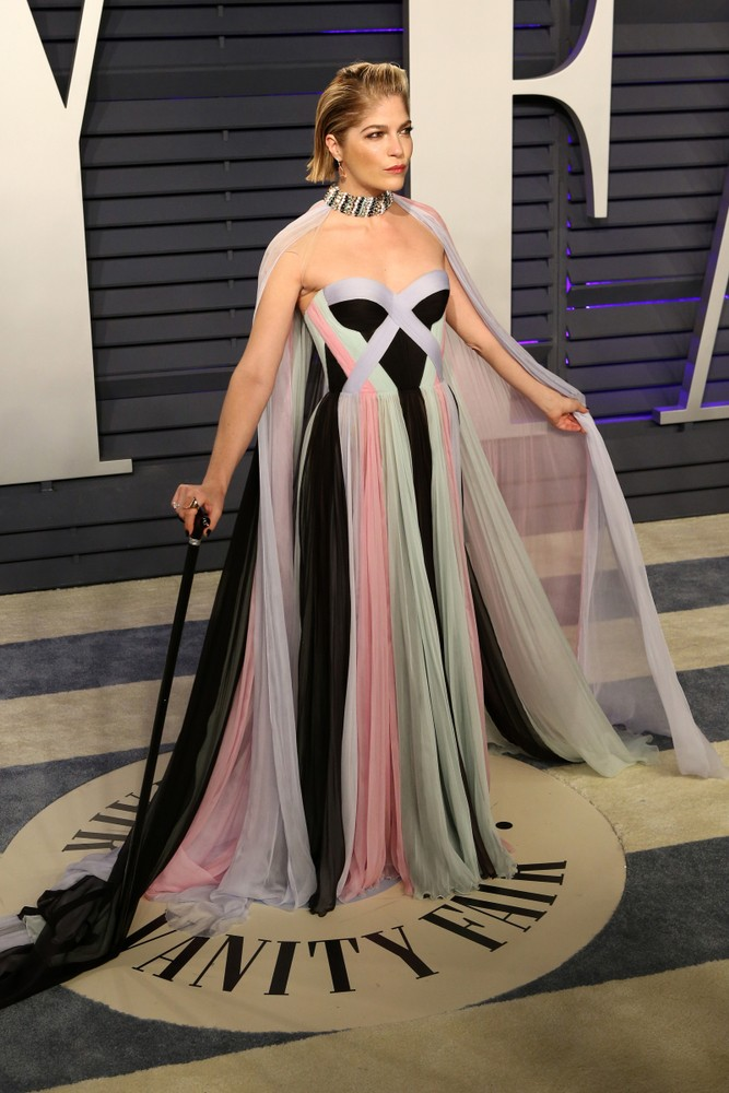 Blair appeared on her first red carpet post-diagnosis for the 2019 Vanity Fair Oscar party - KATHY HUTCHINS / SHUTTERSTOCK.COM