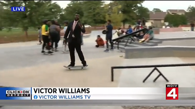 """WDIV-TV's Victor Williams is """"cool."""" - SCREENGRAB/WDIV-TV"""