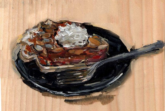 Carrot and Chai Pie from Gingersnap. - PAINTING BY EMILY WOOD