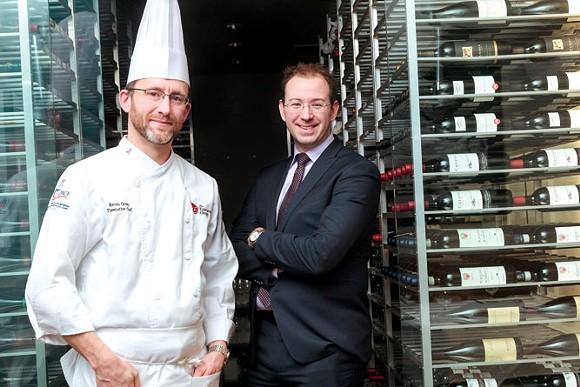 Chef Kevin Green, left, and Epicurean Group President Eric Djordjevic. - JORDAN BUZZY