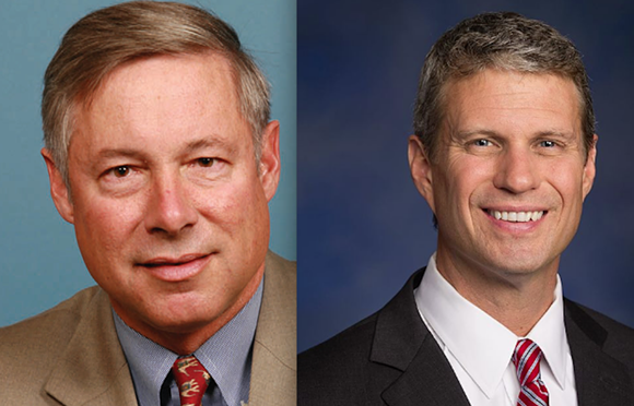 Fred Upton (left) and Bill Huizenga. - WIKIPEDIA
