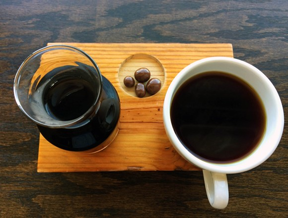 The Eleos pour over. - PHOTO BY TOM PERKINS