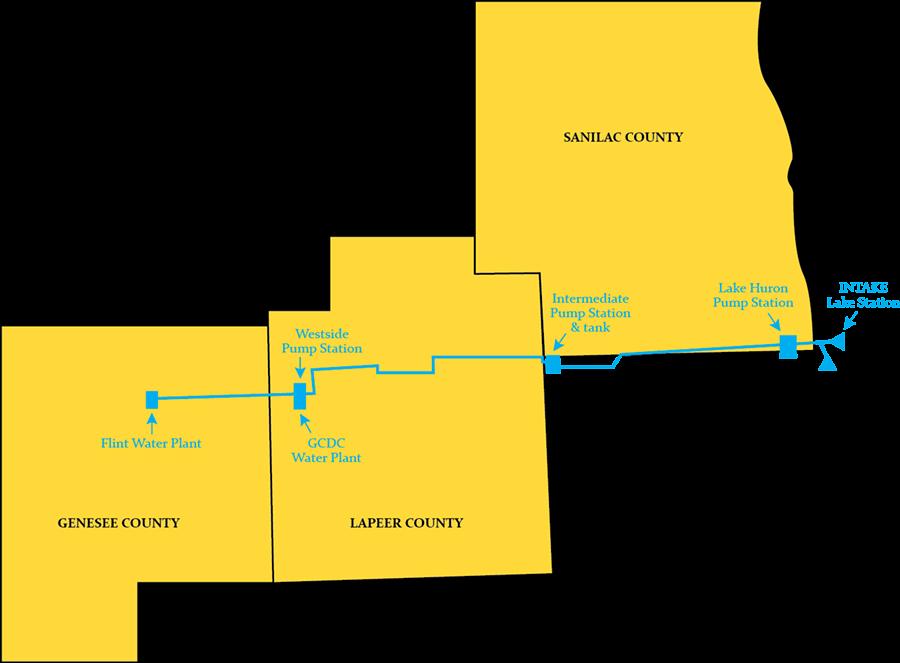 Map of the Karegnondi pipeline.