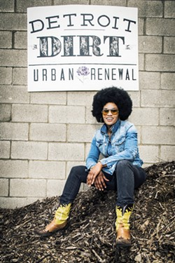 Pashon Murray, founder of Detroit Dirt. - PHOTO BY DOUG COOMBE