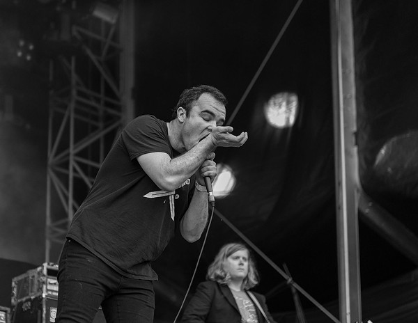 FUTURE ISLANDS PERFORM LIVE IN 2015. PHOTO FROM WIKIPEDIA.