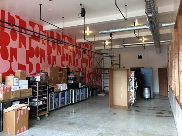 Bon Bon Bon is finishing the renovation of its new space this week, and will begin production next week. - TOM PERKINS