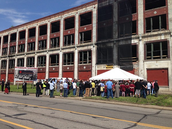 Groundbreaking for Arte Express' rehab of Detroit's Packard Plant. - LEE DEVITO
