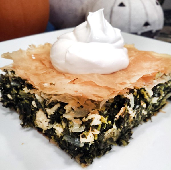 Vegan spinach pie - COURTESY PHOTO