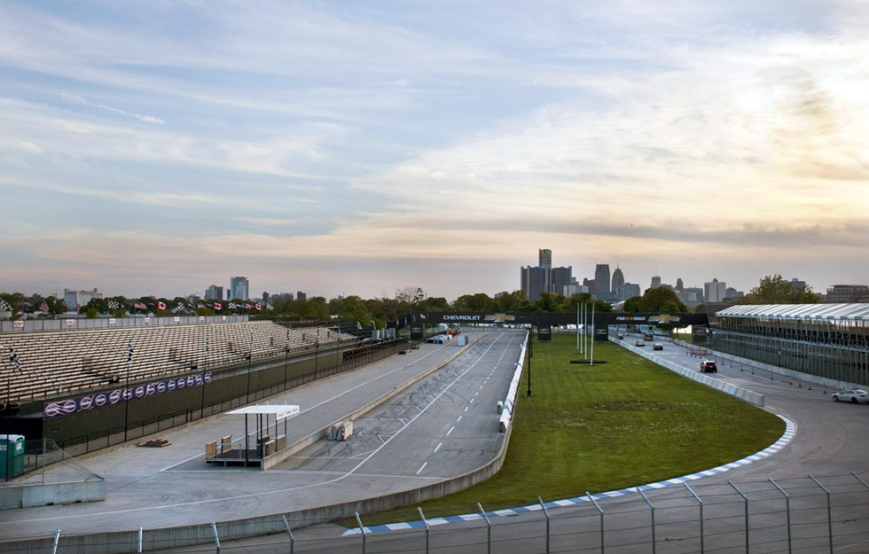 Parkgoers navigate the race track over a month before the race. - TOM PERKINS
