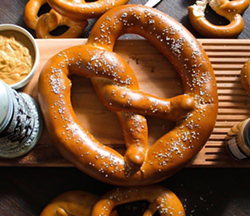 A giant pretzel at Curtain Call - CORI D/YELP