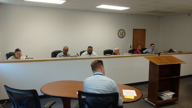 Hamtramck City Council assembles for last night's meeting. - PHOTO BY MICHAEL JACKMAN