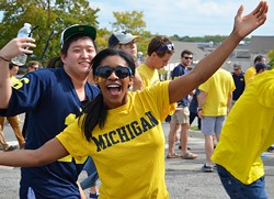 University of Michigan football fans enter the stadium before the BYU game on September 26, 2015. - SHUTTERSTOCK