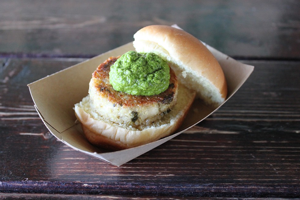 Quinoa burger with kale chimichurri at Green Dot Stables. - COURTESY OF GREEN DOT STABLES