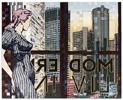 """""""Modern Living,"""" a work by Faile, incorporates acrylic and silkscreen ink on blocks. - COURTESY PHOTO"""