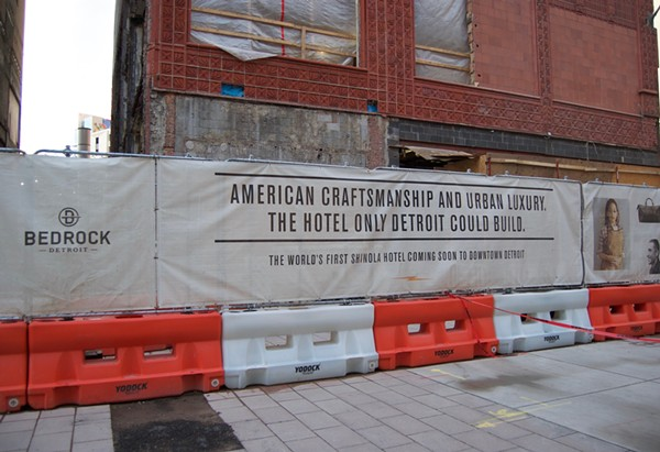 The marketing message of the Shinola Hotel, coming to downtown Detroit in 2018. - VIOLET IKONOMOVA