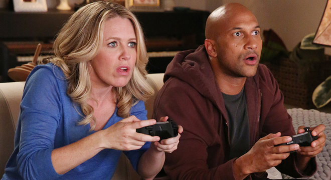 "Jessica St. Clair and Keegan-Michael Key from ""Playing House."" - USA."
