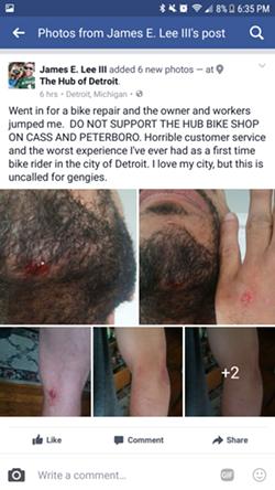 Lee's Facebook post has since been deleted. - SCREENSHOT