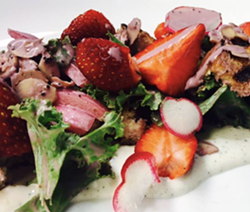 Vegan strawberry salad - THE ROOT/FACEBOOK