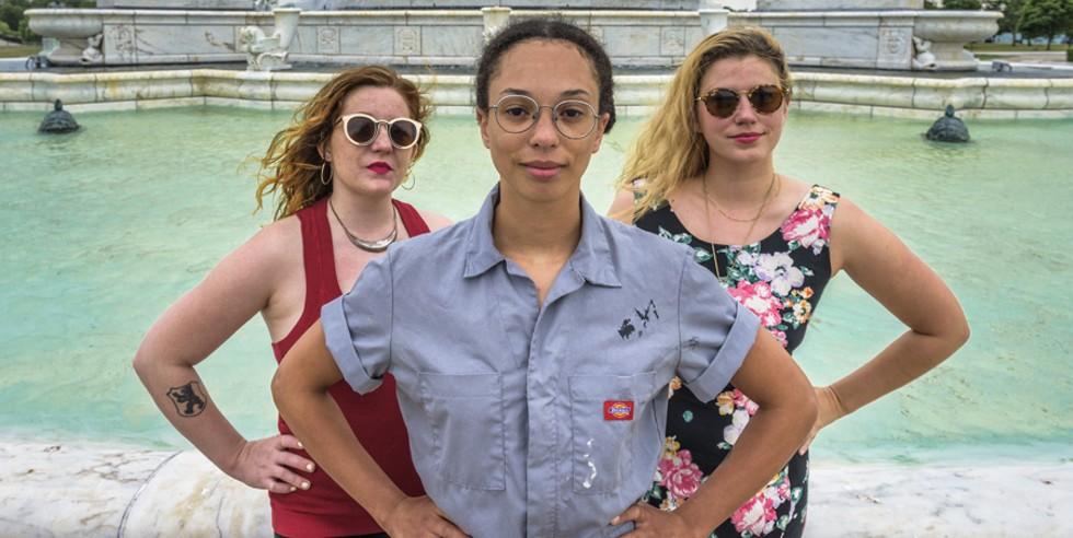 From left: The Seraphine Collective's Rachel Thompson, Sophia Softky, and Linda Jordan. - DOUG COOMBE