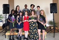 Top row: Nikki Roach, Nandi Comer, Sophia Softky, Augusta Morrison. Bottom row: Dina Bankole, Aaron Gooch, Tina Louise, Rachel Thompson, Linda Jordan. - Alissa Shelton - COURTESY PHOTO