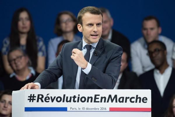 Emmanuel Macron at Paris Porte de Versailles for the 2017 French presidential election. - SHUTTERSTOCK