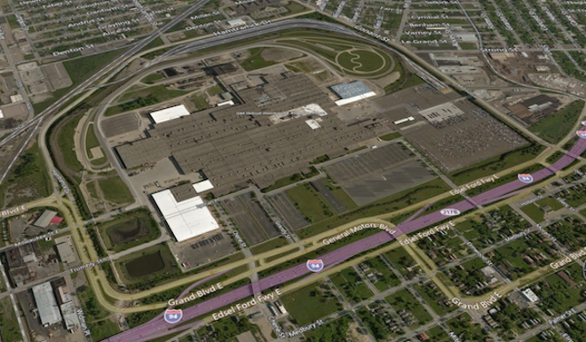 General Motors' Detroit-Hamtramck assembly plant - GOOGLE EARTH IMAGE