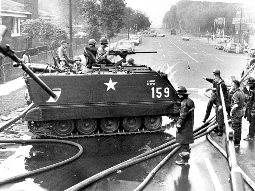 """""""The tanks in '67, boy … they'd damn near knock a building down."""" - WALTER  P.  REUTHER  LIBRARY, ARCHIVES OF LABOR AND URBAN AFFAIRS, WAYNE STATE UNIVERSITY"""