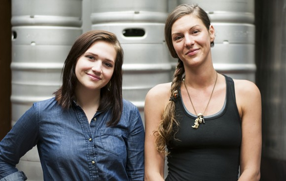 Rachel Smith, left, and Chelsea Piner; assistant and head brewer at Traffic Jam & Snug. - TOM PERKINS