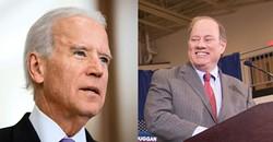 Former Vice President Joe Biden and Mayor Mike Duggan. - SHUTTERSTOCK / DUGGAN CAMPAIGN