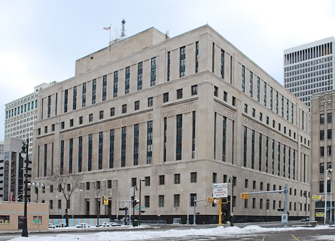 Theodore Levin United States Courthouse in Detroit, taken January 2010 by Andrew Jameson. - COURTESY CREATIVE COMMONS