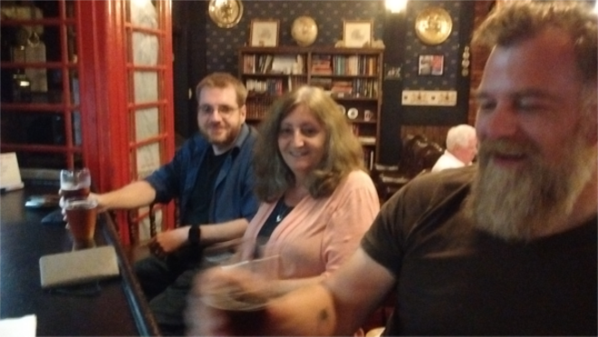 All smiles at the Commonwealth Club's small bar. - PHOTO BY MICHAEL JACKMAN