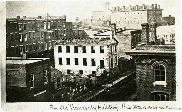 "Catholepistemiad, the old ""University Building,"" in Detroit in 1858. - BURTON HISTORICAL COLLECTION"