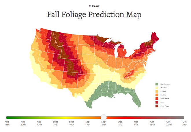 What fall leaves will look like by Sept. 24
