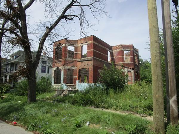 Dilapidated building on Pulford Street west of Mount Elliott Street. - MICHAEL JACKMAN