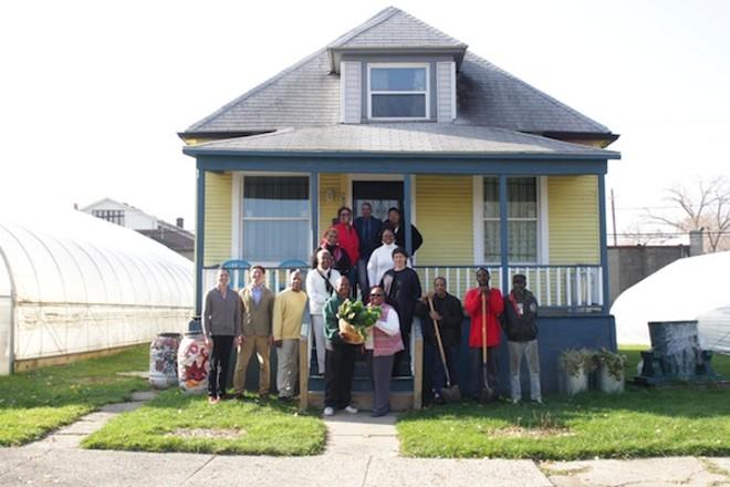 The Oakland Avenue Urban Farm poses for a photo - COURTESY JAMES LESKO